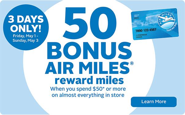 50 Bonus Air Miles