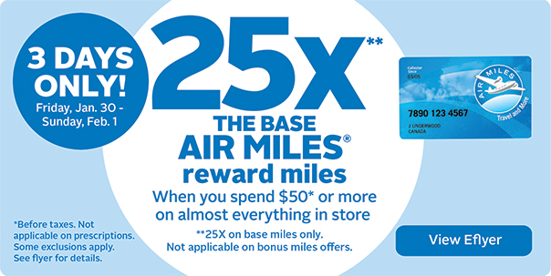 25x The Base Air Miles