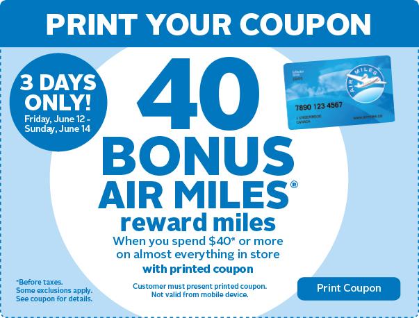 40 Bonus Air Miles