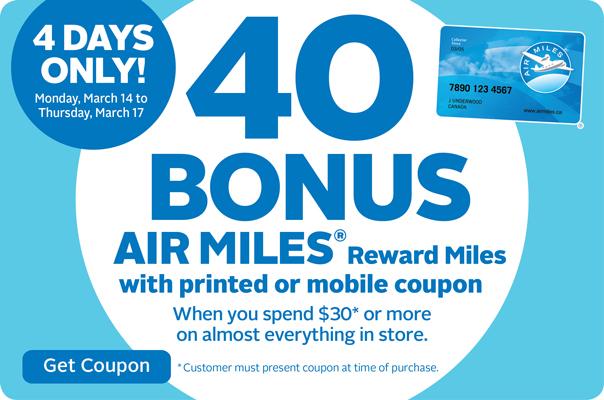 Nslc air miles deals
