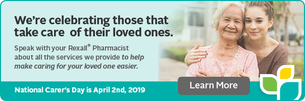 Ask your Rexall Pharmacist about our services.