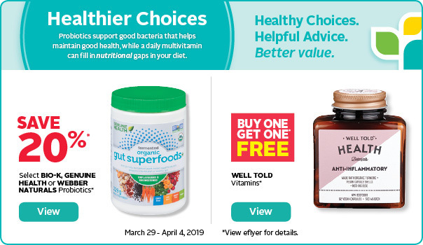 Healthy choices! Save on probiotics and vitamins.