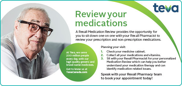 Book a Medication Review at your Rexall Pharmacy.