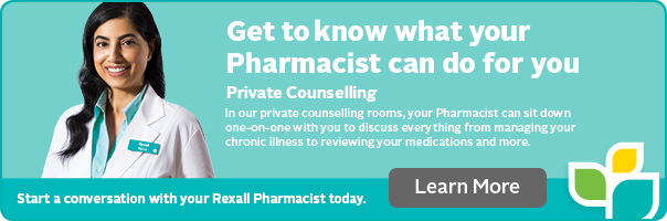 Private counselling with your Rexall Pharmacist.