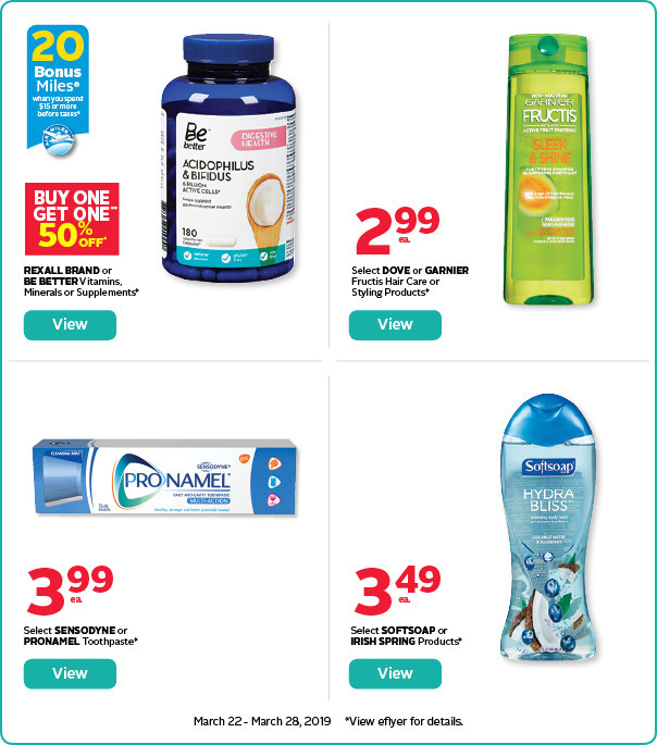 Save on select personal care products.