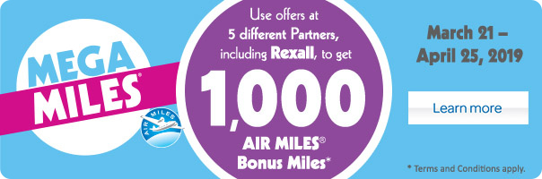 Use offers to get 1000 AIR MILES® Bonus Miles.